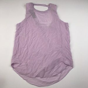 Chaser Silk Lavender Tank Top Back Draping NWT